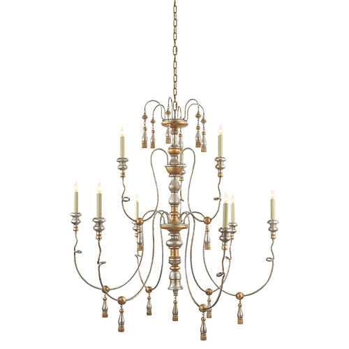 Michele 9-Light Chandelier, Gold
