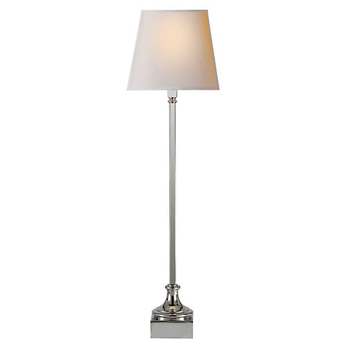 Cawdor Buffet Lamp, Polished Nickel
