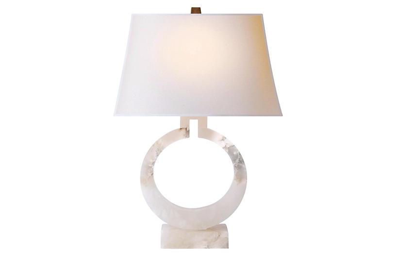 Ring Table Lamp, Alabaster