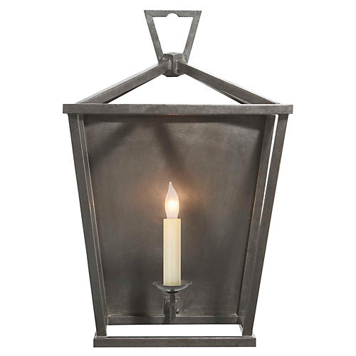 Darlana 3/4 Wall Sconce, Aged Iron