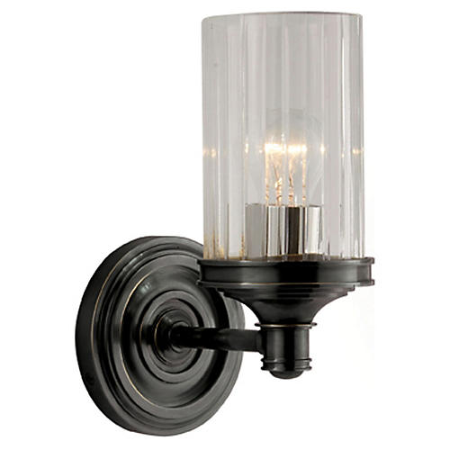 Ava 1-Light Sconce, Bronze