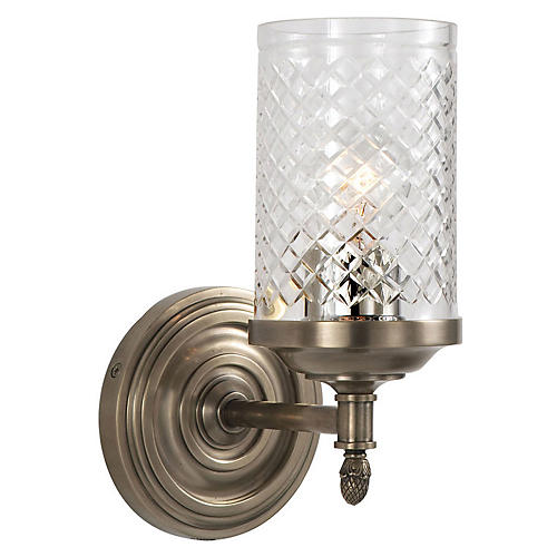 Lita 1-Light Sconce, Antiqued Nickel
