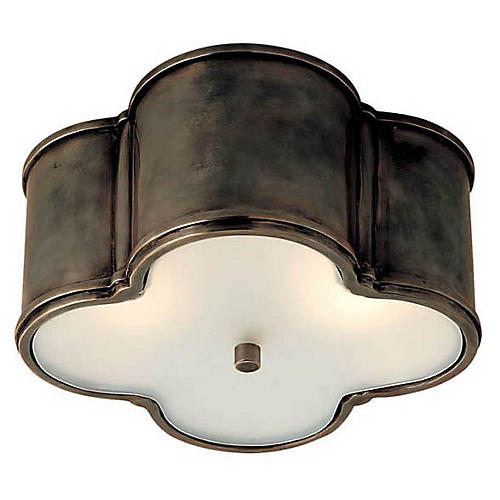 Basil Flush Mount, Gunmetal