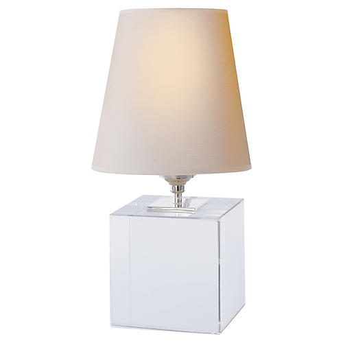 Terri Cube Accent Lamp, Crystal