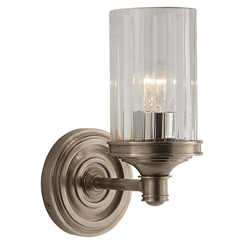 Ava 1-Light Sconce, Antiqued Nickel