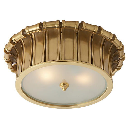 Vivien Flush Mount, Natural Brass