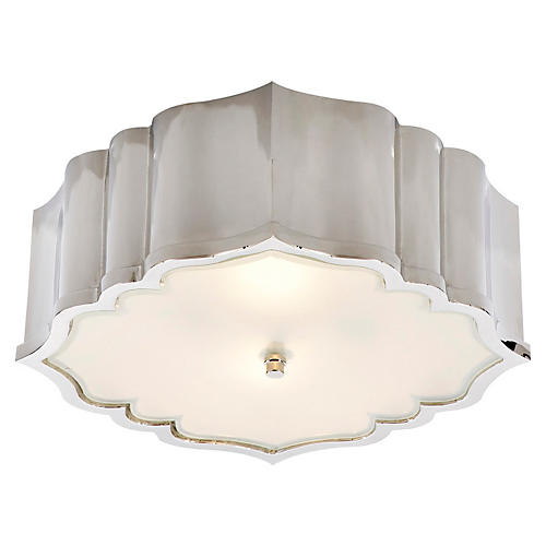 Balthazar Flush Mount, Polished Nickel