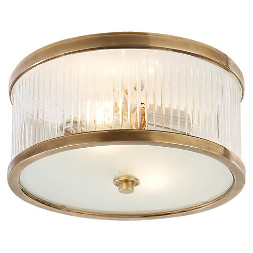 Randolph Flush Mount, Brass