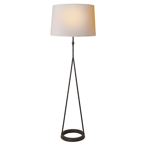 Dauphine Floor Lamp, Aged Iron