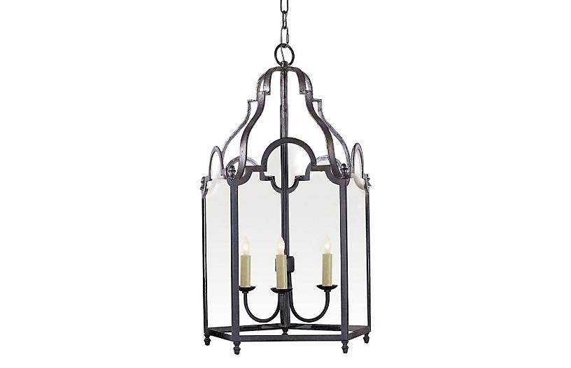 French Market Lantern, Aged Iron