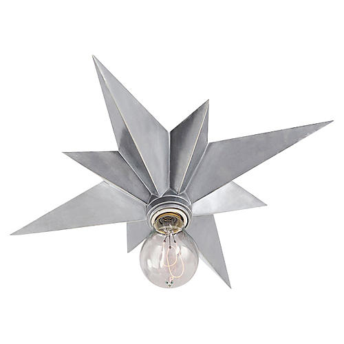 Star Flush Mount, Silver