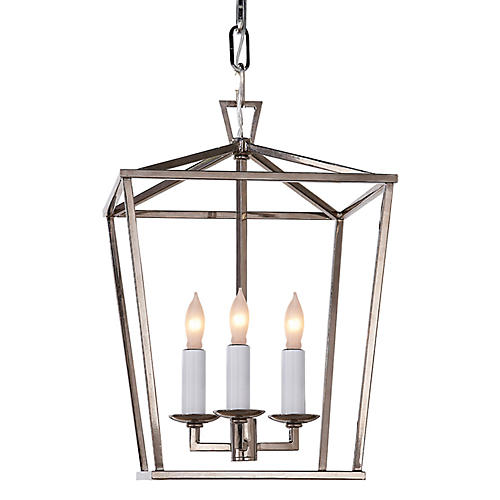 Darlana Mini Lantern, Polished Nickel