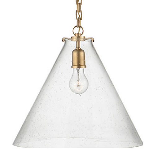 Katie Conical Pendant, Brass