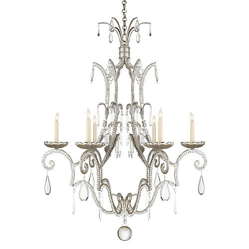 Middleton 6-Light Chandelier, Silver