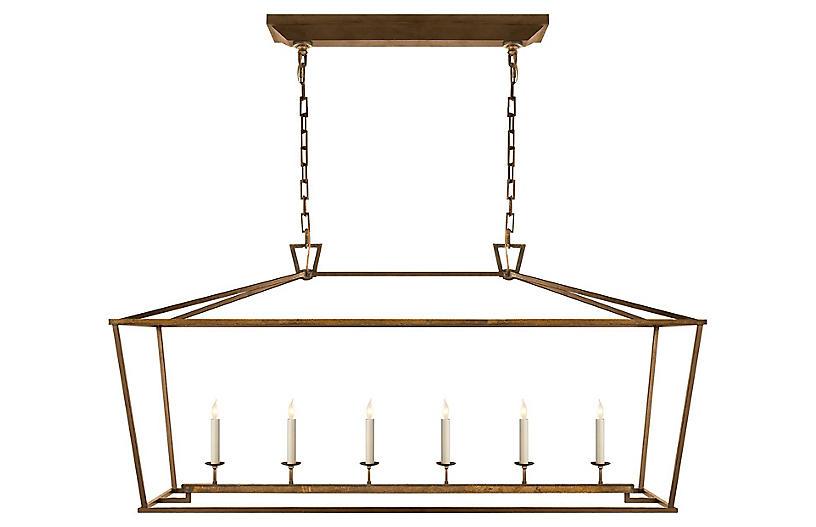 Darlana Linear Pendant, Gilded Iron