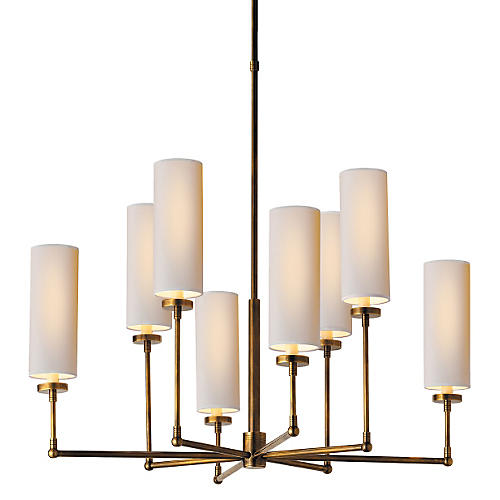 Ziyi 8-Light Chandelier, Antiqued Brass
