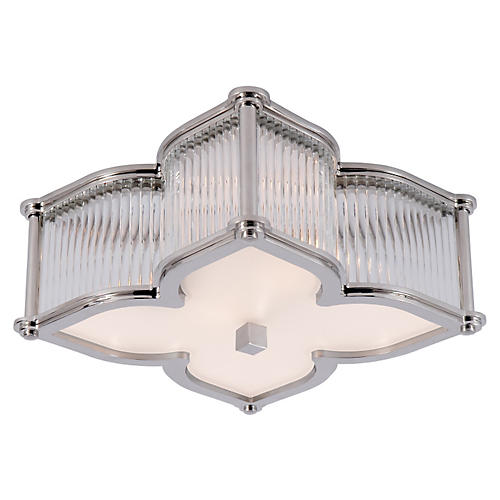 Lana Small Flush Mount, Polished Nickel