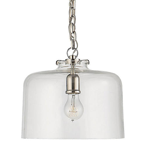 Katie Dome Pendant, Polished Nickel