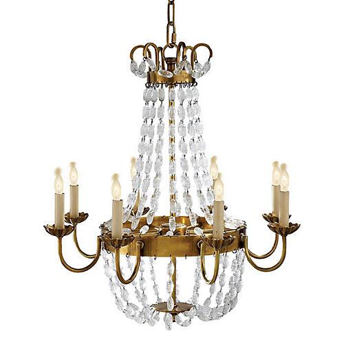 Paris Chandelier, Antiqued Brass