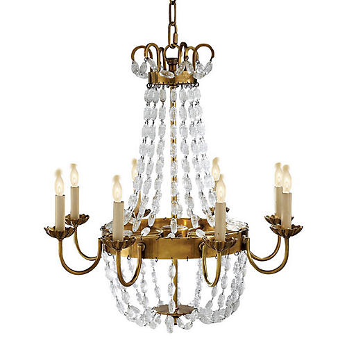 Paris Chandelier, Antiqued Brass