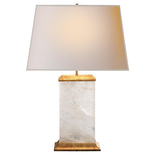 Crescent Table Lamp, Antiqued Gold