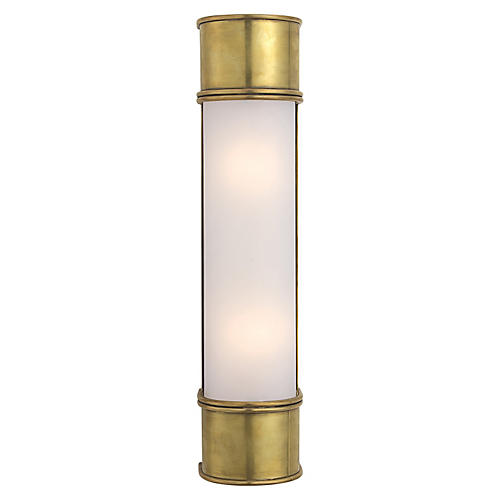 """Oxford 18"""" Sconce, Antiqued Brass"""