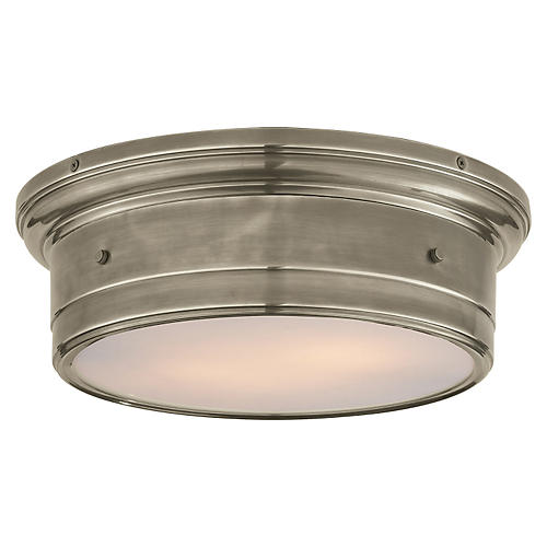 Siena Flush Mount, Antiqued Nickel