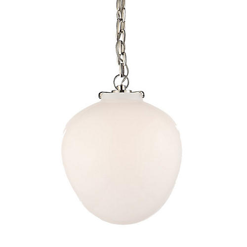 Katie Acorn Pendant, Polished Nickel