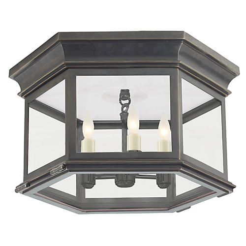 Club Large Flush Mount, Bronze