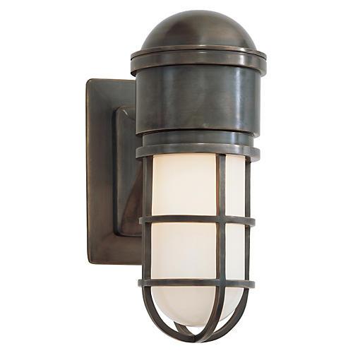 Marine Wall Light, Bronze