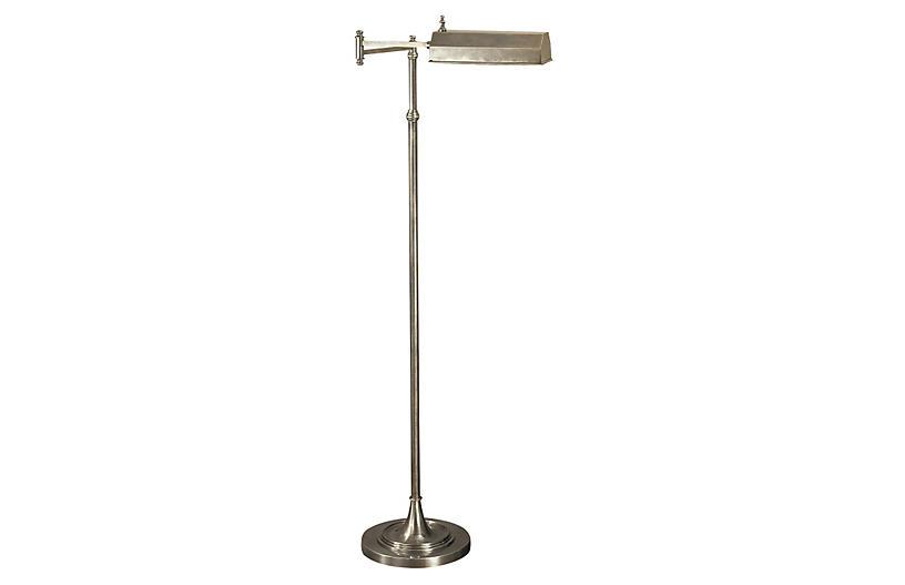 Dorchester Floor Lamp, Antiqued Nickel