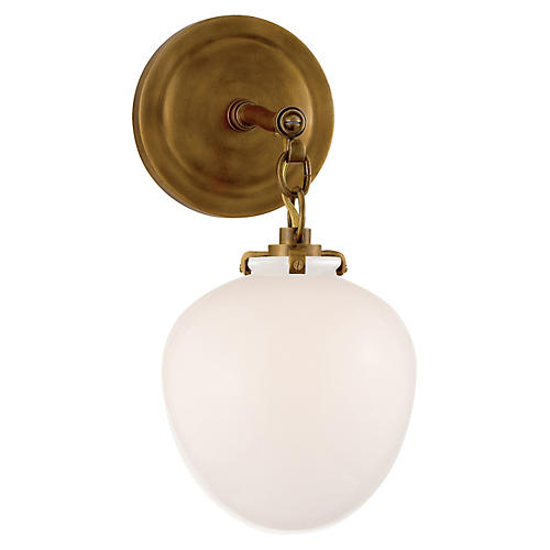 Katie Acorn Sconce, Antiqued Brass