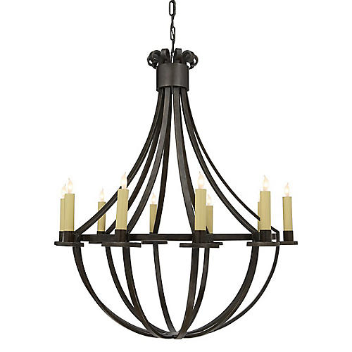 Seymore Chandelier, Aged Iron