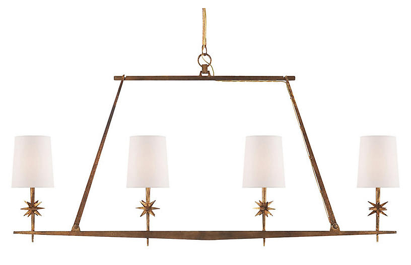 Modern Bathroom Designs Yield Big Returns In Comfort And: Etoile Linear Pendant, Gilded Iron