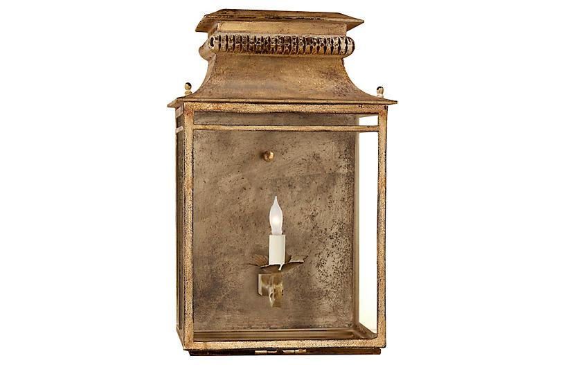 Flea Market Lantern Sconce, Gild