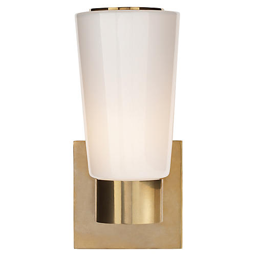Tapered Sconce, Soft Brass