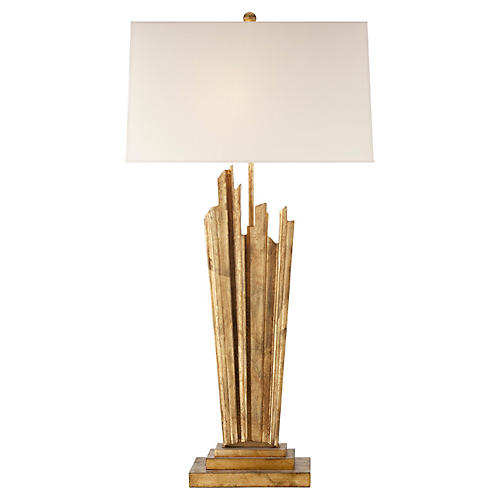 Claymore 2-Bulb Large Table Lamp, Gilded
