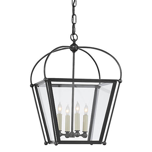 Plantation 4-Bulb Small Lantern, Bronze