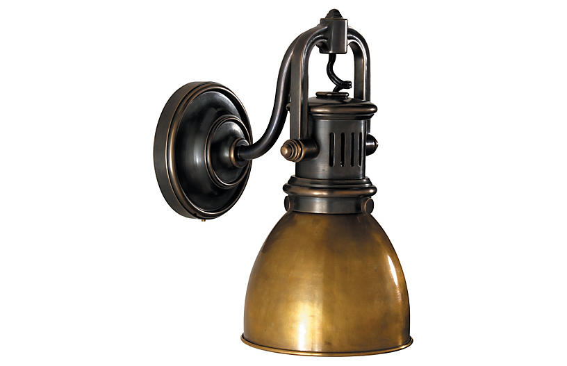 Yoke Suspended Sconce - Bronze - Visual Comfort & Co.