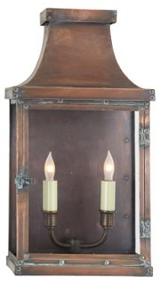 Short Bedford Outdoor Lantern, Copper
