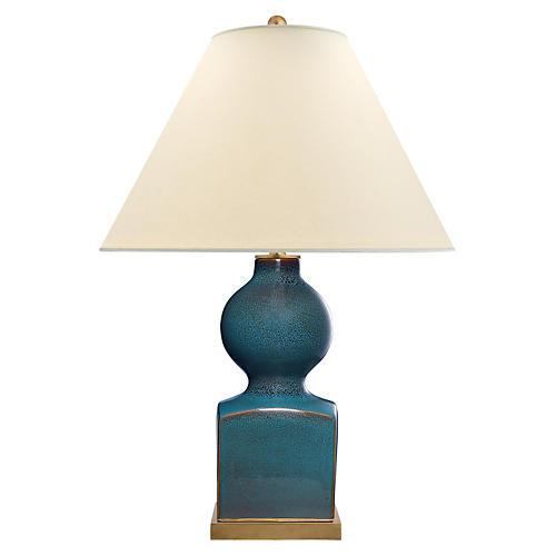 Huping Gourd Vase Table Lamp, Oslo Blue
