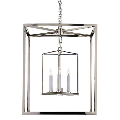 Osborne Lantern, Polished Nickel
