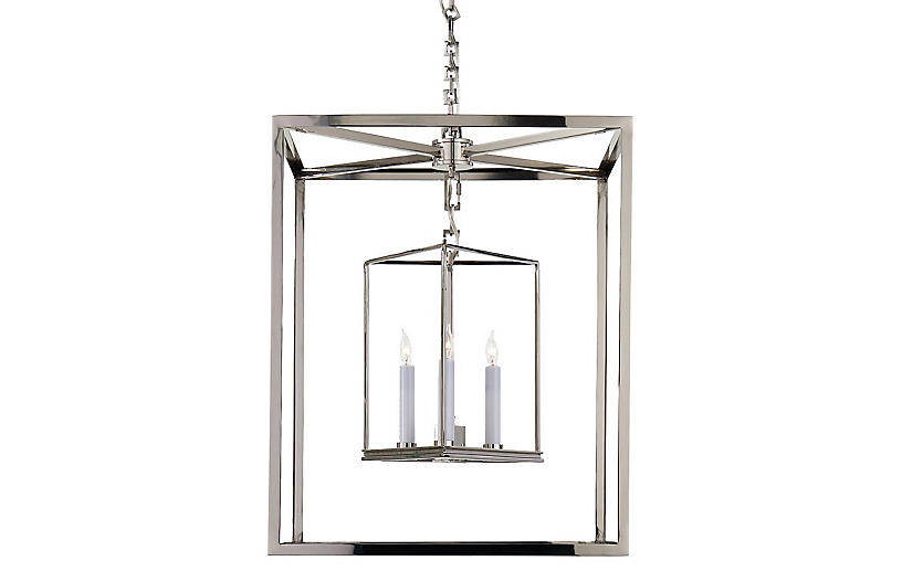 Osborne Lantern, Polished Nickel