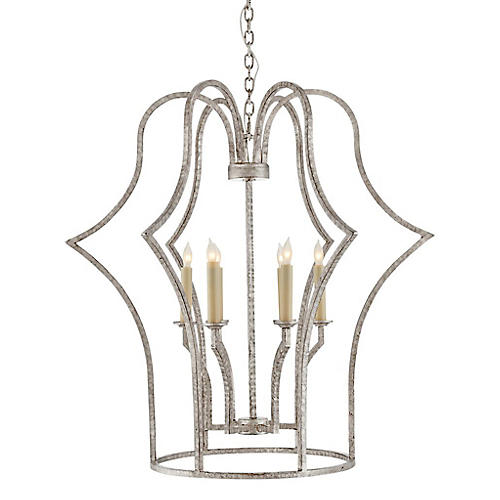 Hollywood Regency Chandelier, Silver
