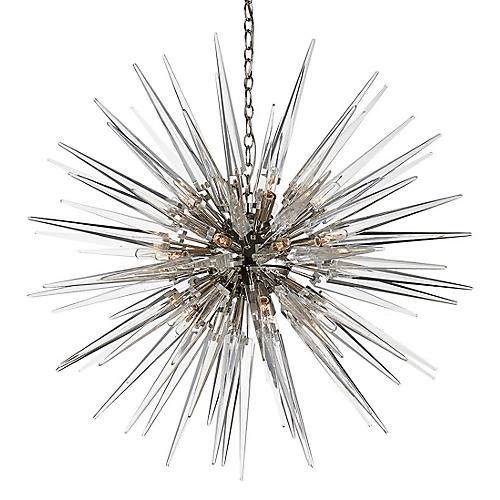 Quincy Medium Sputnik Pendant, Nickel