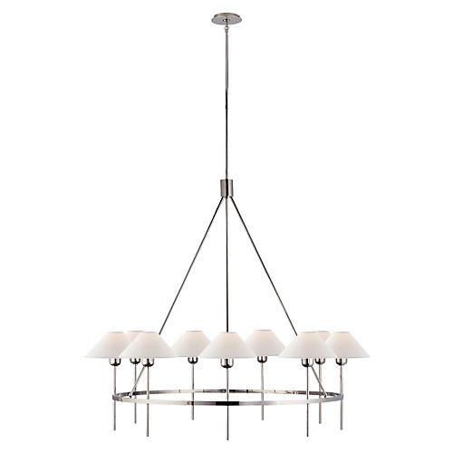Hackney large chandelier nickel