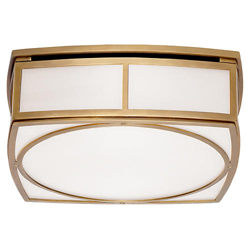 Winston Large Flush Mount, Brass