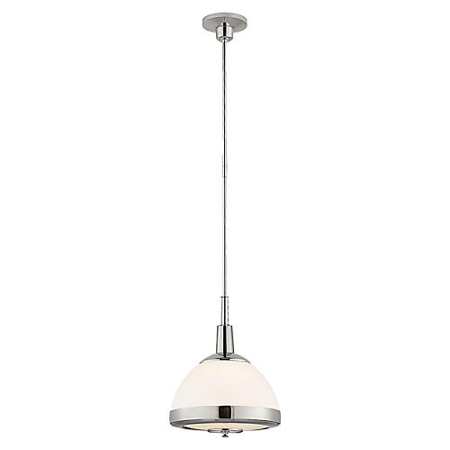 Connor Pendant, Polished Nickel