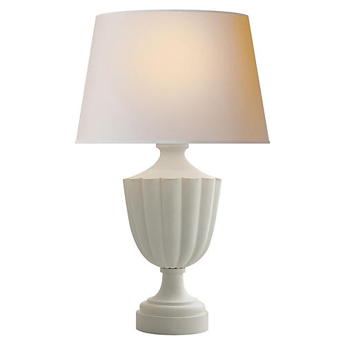 Marlborough Table Lamp, Plaster White