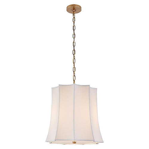 Peter Crown Hanging Shade, Natural Brass